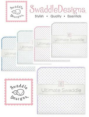 SwaddleDesigns Ultimate Swaddle Blanket CLASSIC POLKA DOTS ~NEW~