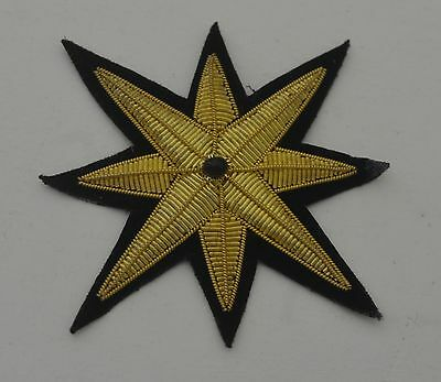 Pair Of Striking Vintage Star Appliques With Bead Rr971