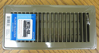 "NEW 4"" x 10"" Brown Metal Floor Register House RV Mobile Home Steel Vent Diffuser"
