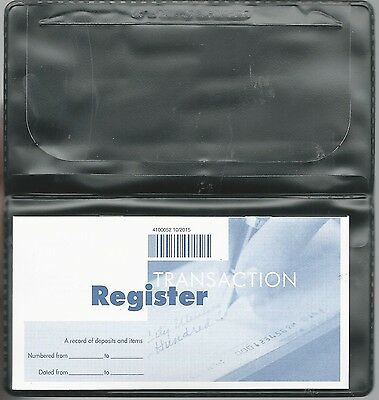 1 New Vinyl Checkbook Cover With Duplicate Flap  And Register Black Or Blue