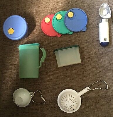 Lot of Seven (7) Vintage Tupperware Magnets and Keychains