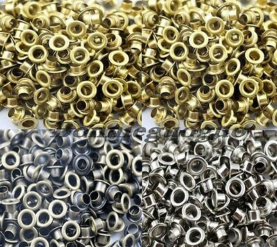 500pcs 5mm Hole Metal Eyelets With Grommet Card Decoration