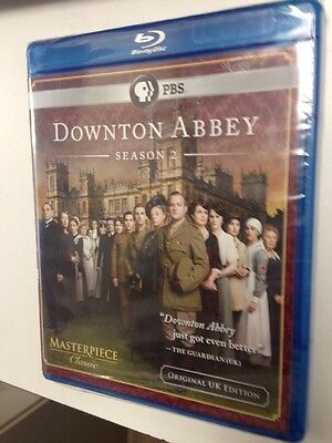 NEW Downton Abbey: Season 2 (Blu-ray Disc, 2012, 3-Disc Set) Free Ship