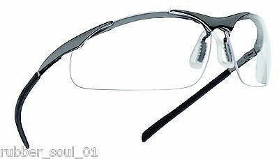Bolle Contour Safety Glasses & Free Bag - Choose from Clear, Smoke or ESP Lens