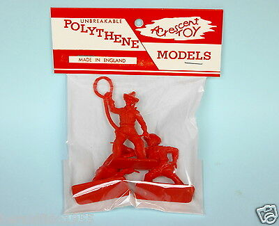 Crescent Toys Plastic 54mm Unpainted Cowboys in Repro 'Unbreakable' Header Pack