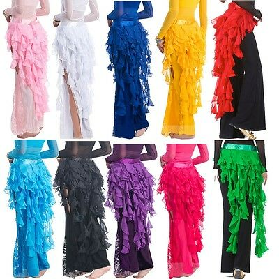 Colors Belly Dance Dancing Belt Performance Tassel Wave Hip Scarf Belt Skirt