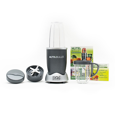 NutriBullet 600 W Grey 8 piece SET Nutrition Extractor Blender UK Seller