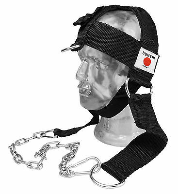 Senshi Japan Nylon Head Harness Dipping Belt Neck Weight Lifting Exercise v2