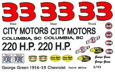 #84 David Gilliland Goody/'s 2005 Chevy 1//43rd Scale Slot Car Waterslide Decals C
