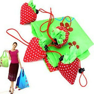 AGnylon Strawberry Foldable Reusable Recycle carrier tote bag Shopping Bags ZZ7