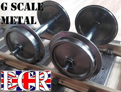 G SCALE 45mm GAUGE METAL 30mm diam WHEELS FOR ALL TRAIN INC PIKO & NQD RAILWAY