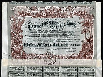 1902 Gouvernement General de L'Indo-Chine - Government