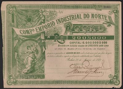 1921 Bahia, Brazil: Compa. Emporio Industrial do Norte
