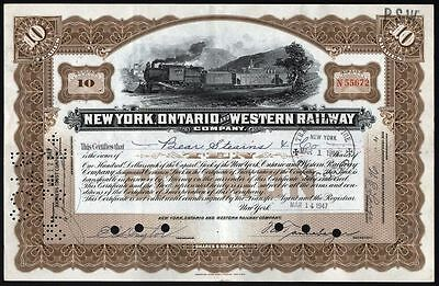 1947 New York, Ontario & Western Railway Company - issued to Bear Stearns