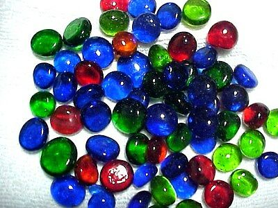 10 Lbs Bright Mix Flat Glass Marbles Gems, Vase Fillers, Mosaic Tiles $23.88!!