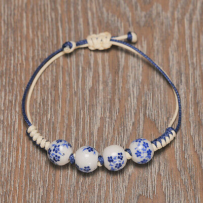 Ming Dynasty Style - Chinese Ceramic Bracelet - Hand Made Art Piece