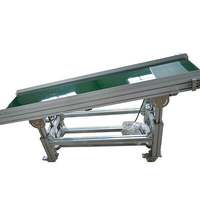 PVC Inclined Wall Conveyor Belt 110V Powered Rubber Belt 59''x 11.8'' Best Price