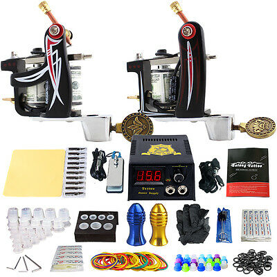 Solong Tattoo Complet Kit de Tatouage 2 Machine à Tatouer Aiguille Alimentation