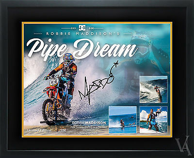 Robbie Maddison Surfing Motorcross Poster Pipe Dream Limited Edition Signed