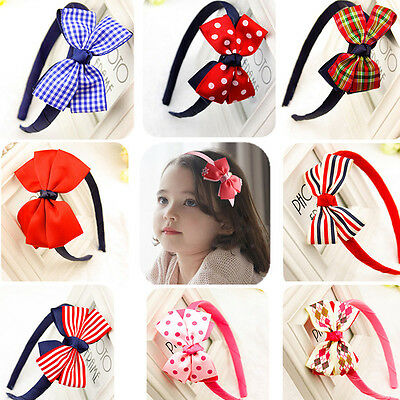 Stylish Baby Kids Girls Big Bow Tie Hair Band Headband Party Wedding Accessory