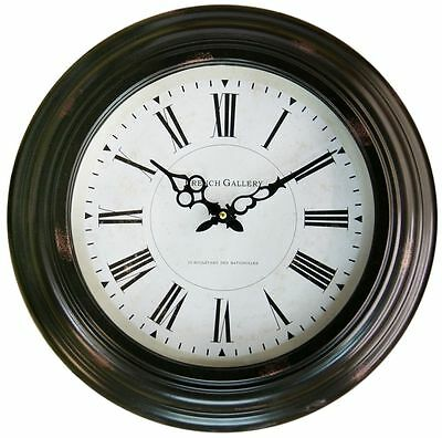 43Cm Ribbed Antique Clock ~ French Gallery Wall Clock