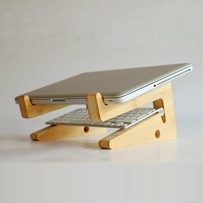 Foldable Wood Desktop Stand Holder Mount For Tablet PC Laptop Notebook Macbook