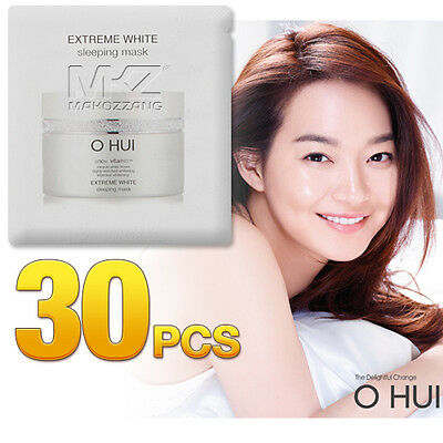 O HUI Extreme White Sleeping Mask 30pcs 30ml Night Treatments OHUI Newest Ver