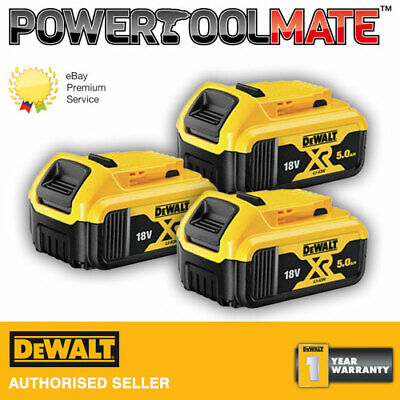 Genuine Dewalt DCB184 18v XR 5ah slide battery *TRIPLE PACK*