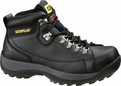 NEW Mens CAT FOOTWEAR Black HYDRAULIC STEEL TOE Work Boot Shoes P89495