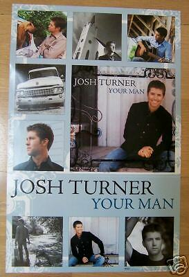 Josh Turner - Country - YOUR MAN Small  Promo Poster - Near Mint