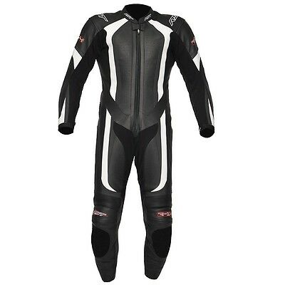 RST R-14 Leather race suit Black white 1PC Leather Motorbike Suit