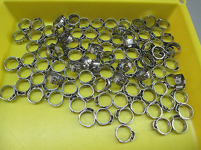 17.0mm Beverage Clamps.  Bag of 100.