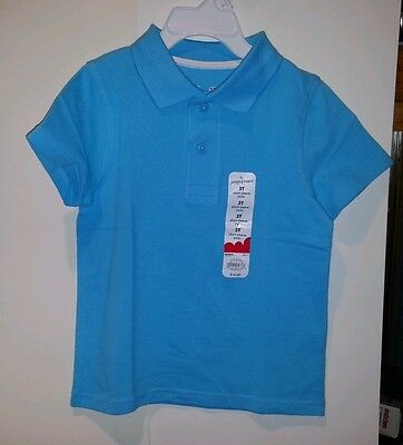 Infant Toddler Boys Girls Jumping Beans Brand Polo Shirt Blue Size 12M 2T 3T