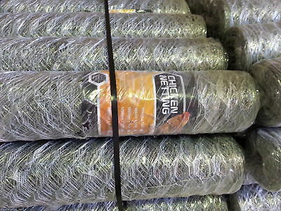 Chicken Wire Netting 900mm x 50M (50mm holes) 1.0mm thick galvanised wire  !
