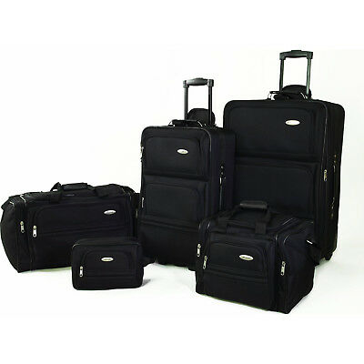 "Samsonite 5 Piece Nested Luggage Suitcase Set, 25"" 20"" & More (Black, Navy, Red)"