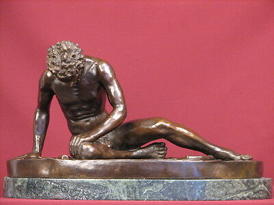 Signed Bronze Sculpture Roman Gladiator Nude Male Warrior Statue Limited Edition
