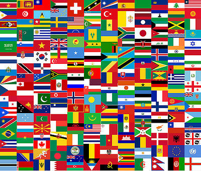 All the Flags Flag 110 x 140 sewn by hand Made in Italy Flags K-Z