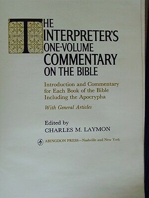 The Interpreters One Volume Commentary on the Bible-1971 Old and New Testament