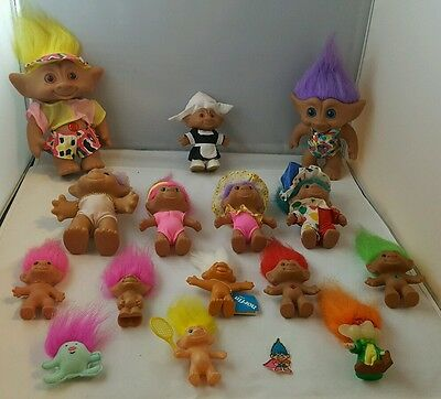 Lot Of Dam Russ Ace Novelty Trolls! Neat Pieces! Free Shipping!