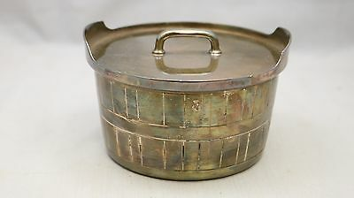 Vintage Gorham EP YC348 Silver Plate With Lid Butter Tug Barrel Design