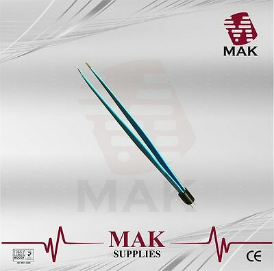 MAK Bipolar Forceps 22cm Straight Reusable 1mm tip Fine Quality Instruments