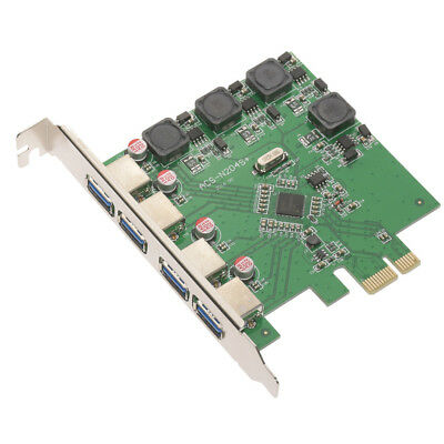 Self Powered USB 3.0 4-Port PCI-Express Add-on Card for Win 7 8 10 AU