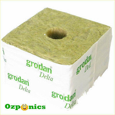 Grodan Wrapped Rockwool Propagation Cube Hydroponics Plant Growing Medium