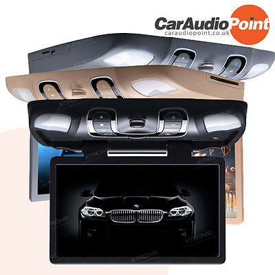 """XTRONS 15.6"""" Overhead Flip Down Car CD DVD Player Roof Mount Monitor Game CR1505"""