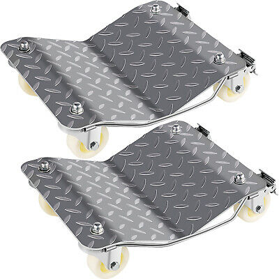 "2 Pcs Wheel Dollies Dolly Vehicle Car Tire Heavy Duty 4X3"" Set High Skate Castor"