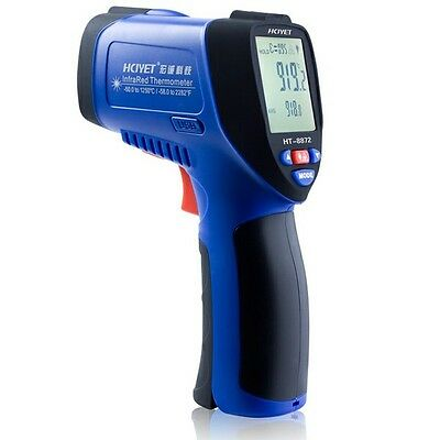 HCJYET HT-8872 High Temperature Laser IR Infrared Thermometer -50~1250℃,