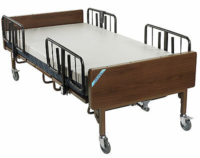 Full Electric Bariatric Hospital Bed with Mattress and 1 Set of T Rails