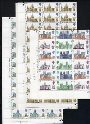 Cathedrals Set In Complete Unmounted Mint Sheets