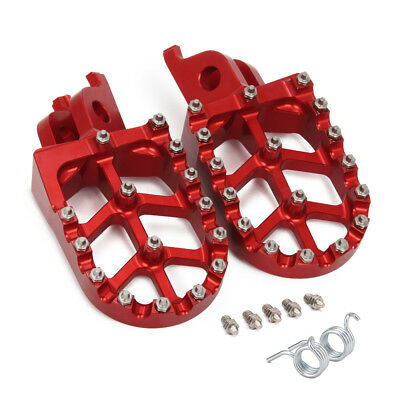 MX Wide Foot Pegs For  Honda CR125 CR250 CR500 CRF450X CRF450F CRF250R CRF250X