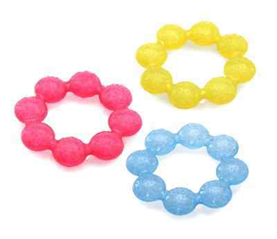 Icy Bite Soother Ring Teether Pacifier Baby Care Health Feeding Teeth Massage